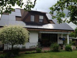 Solarstromanlage auf einem Wohnhaus