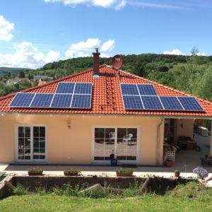 Photovoltaikanlage auf einem Wohnhaus