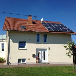 Photovoltaikanlage auf einem Wohnhaus in St.Wendel