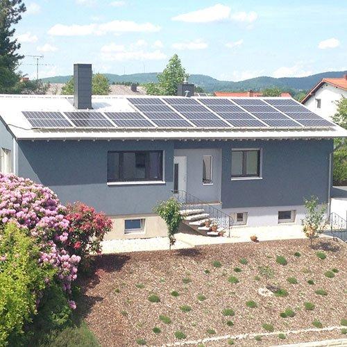 Photovoltaik auf einem Wohnhaus in St. Wendel