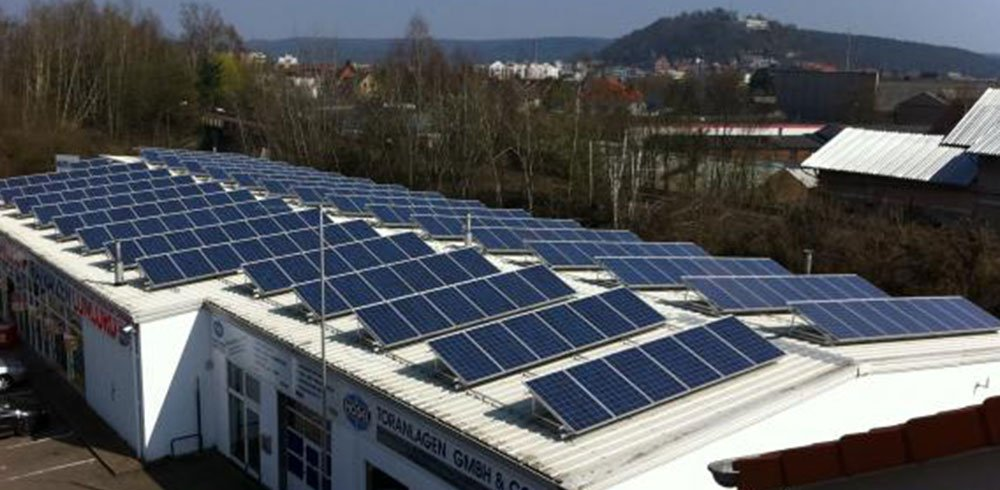 Solaranlage auf der Firma Hodel Toranlagen GmbH & Co. KG in Homburg