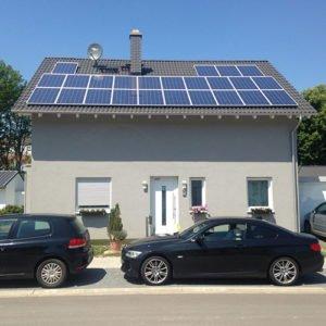 Solaranlage auf einem Wohnhaus in Sulzbach