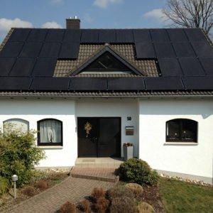 Photovoltaik- Anlage auf einem Wohnhaus in St.Ingbert