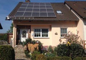 Solaranlage auf einem Wohnhaus in Spiesen- Elversberg