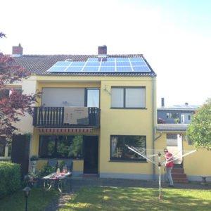 Photovoltaik- Anlage auf einem Wohnhaus in Völklingen
