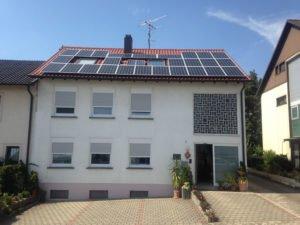 Photovoltaikanlage auf einem Wohnhaus in St. Ingbert