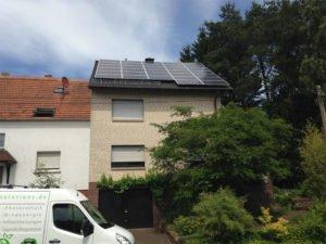 Solarstromanlage auf einem Wohnhaus in St.Wendel